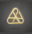 gold logo design sign for business company vector image vector image