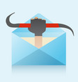 hacker and phishing mail vector image