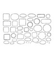 hand drawn business doodles comic bubbles vector image