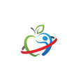 healthy apple design icon vector image vector image