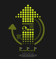 Infographics set dots arrows modern style vector | Price: 1 Credit (USD $1)