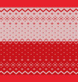 knit christmas design xmas seamless pattern red vector image vector image