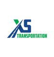 letter xs road transportation logo vector image vector image