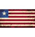 Liberian flag Grunge background vector image vector image