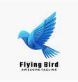 logo flying bird gradient colorful style vector image vector image