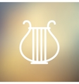 Lyre thin line icon vector image