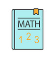 math textbook color icon vector image