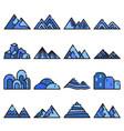 mountain icon set on white background vector image