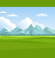 mountains background outdoor green meadows with vector image