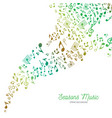 music background in spring colors vector image vector image