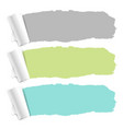 pastel color torn paper set vector image vector image
