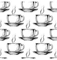 pattern with big ceramic cup vector image