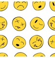 Pattern with smiley vector image vector image
