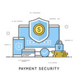 payment security data and transactions protection vector image vector image