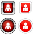 Person button set vector image vector image