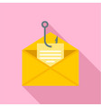 phishing personal mail icon flat style vector image vector image