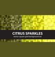 Pixel pattern set citrus sparkles seamless pixel vector image