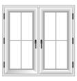 plastic closed double window vector image vector image
