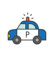 police car police related icon editable outline vector image
