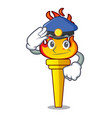 police torch character cartoon style vector image vector image