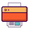 printer icon cartoon style vector image vector image