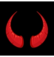 red Devil horns vector image vector image