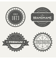Retro Vintage Insignias or Logotypes set vector image vector image