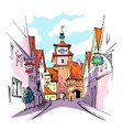 rothenburg ob der tauber germany vector image
