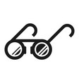 round glasses icon simple style vector image vector image
