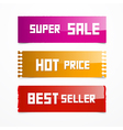 Sale Pink Orange and Red Labels vector image vector image