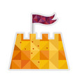 sand castle isolated icon vector image