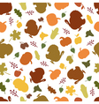 seamless pattern autumn symbols vector image