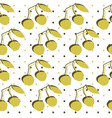 seamless pattern with double cherry vector image vector image