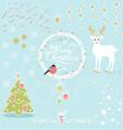 set christmas decorative elements vector image