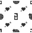 set heart world love please do not disturb vector image vector image