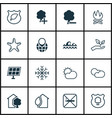 set of 16 eco-friendly icons includes save world vector image vector image