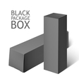Set Of black Package Box Mockup Template vector image
