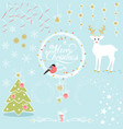 set of christmas decorative elements vector image