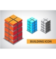 set of colorful 3d office building vector image vector image