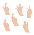 Set of hands with multitouch gestures for tablet vector image