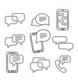 set of message icons vector image vector image