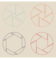 set shutter icon vector image vector image