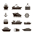 set transportation and shipping icons vector image vector image