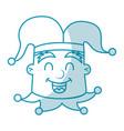 shadow jester face cartoon vector image vector image