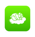 sleeping panda icon green vector image