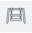 swing toy concept linear icon isolated on vector image