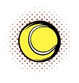 Tennis ball comics icon vector image vector image