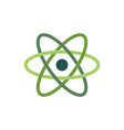 the atom icon atom symbolisolated on white flat vector image