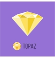 Topaz flat icon with top view Rich luxury symbol vector image vector image