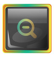 zoomout grey icon with colorful details on white vector image vector image